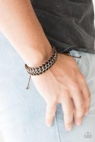 Racer Edge - Brown Urban Bracelet