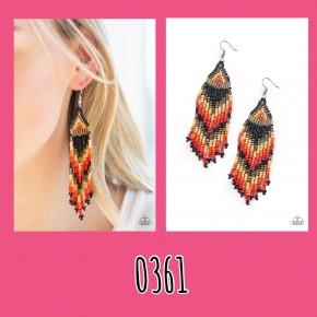 Colors Of The Wind - Black Seed Bead Earrings
