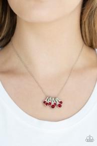 Slide Into Shimmer - Red Necklace