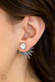 Dynamic - White Post Earrings