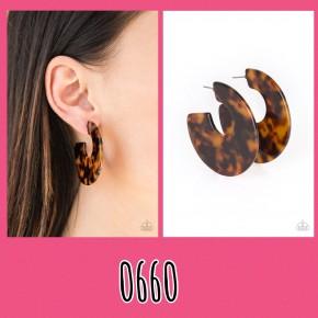 Tropically Torrid - Brown Earrings