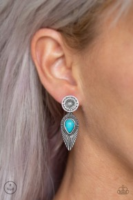 Fly Into The Sun - Blue Post Earrings
