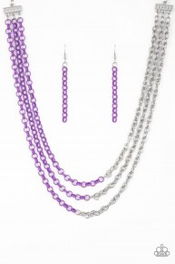 Turn Up The Volume - Purple Necklace