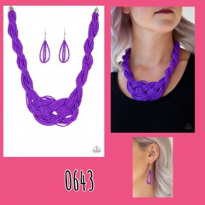 Standing Ovation - Purple Necklace