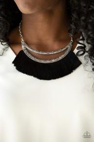 The Mane Event - Black Fringe Necklace