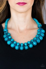 Caribbean Cover Girl - Blue Necklace