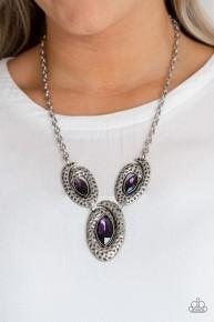 Metro Mystique - Purple Necklace