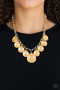 Texture Storm - Gold Necklace