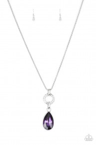 Lookin' Like A Million - Purple Necklace