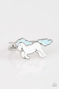 Starlet Shimmer Unicorn Ring - Blue