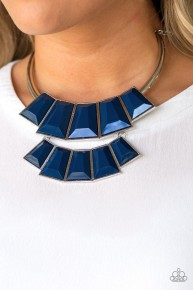 Lions, TIGRESS, and Bears - Blue Necklace