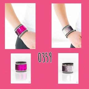 Pink/Silver Mermaid Wrap Bracelet
