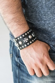 Chopper Central - Black Urban Bracelet