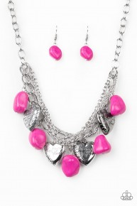 Change Of Heart - Pink Necklace