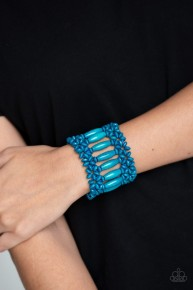 Barbados Beach Club - Blue Wooden Bracelet