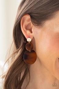 Miami Mariner - Gold Post Earrings Acrylic