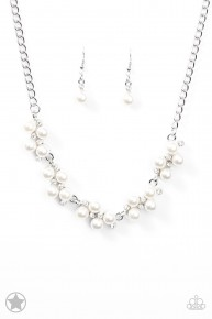 Love Story - White Blockbuster Necklace
