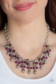 Travelling Trendsetter - Purple Necklace