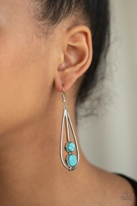 Natural Nova - Blue Earrings
