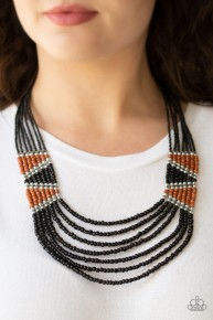 Kickin' It Outback - Black Seed Bead Necklace