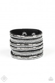 A Wait And Sequin Attitude - Black Urban Bracelet
