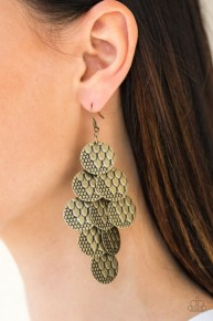 The Party Animal - Brass Earring