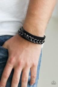 Be The CHAINge - Black Urban Bracelet