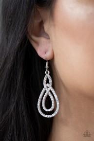 Sassy Sophistication - White Earrings