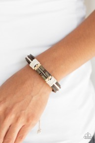 Wonderfully Woodsy - Brown Urban Bracelet