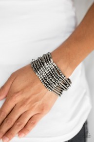 Rural Retreat - Silver Seed Bead Bracelet