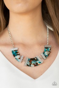 Haute Blooded - Blue Acrylic Necklace
