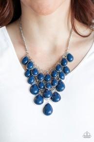 Shop 'Til You TEARDROP - Blue Necklace