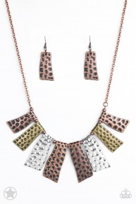 A Fan Of The Tribe - Multi Blockbuster Necklace