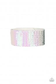 Mer-Mazingly Mermaid - Pink Urban Sequin Bracelet