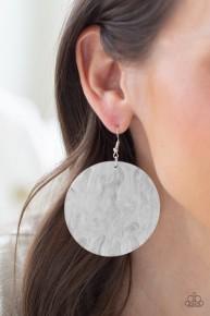 Sea Where It Goes - White Acrylic Earrings