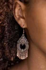 New Delhi Native - Copper Earrings
