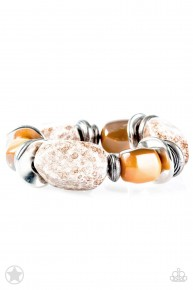Glaze Of Glory - Peach/Brown Blockbuster Bracelet
