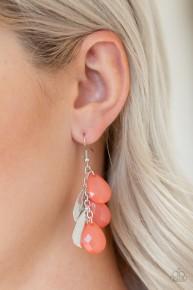 Seaside Stunner - Orange Earrings