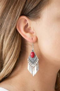 Mostly Monte Zumba - Red Earrings