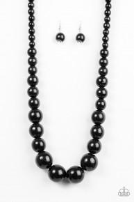 Effortlessly Everglades - Black Wooden Necklace