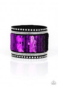 Mermaids Have More Fun - Purple Silver Urban Bracelet