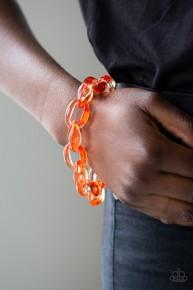 Ice Ice Baby - Orange Acrylic Bracelet
