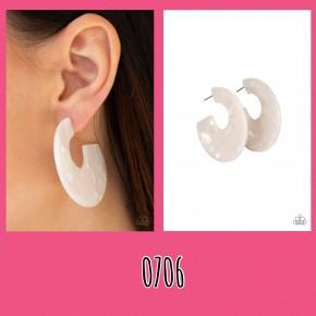 Tropically Torrid - White Earrings