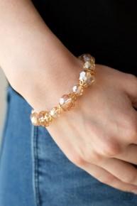 Crystal Collision - Gold Bracelet
