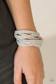Shameless Shimmer - White Urban Bracelet