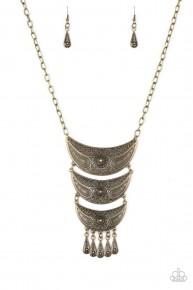 Go Steer Crazy - Brass Necklace