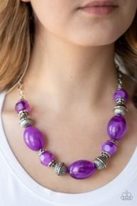 Ice Melt - Purple Necklace