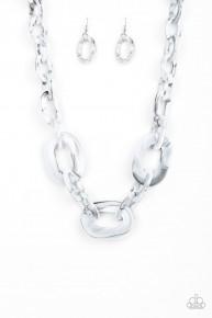 All Invincible - Silver/Grey Acrylic Necklace