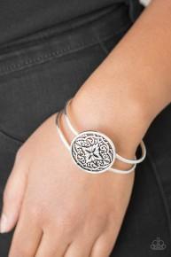 Mandala Majesty - Silver Bracelet