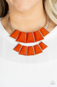 Lions, Tigress, and Bears - Orange Necklace